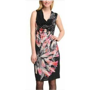 Desigual Frio Party Club Dress Cowl Neck Floral